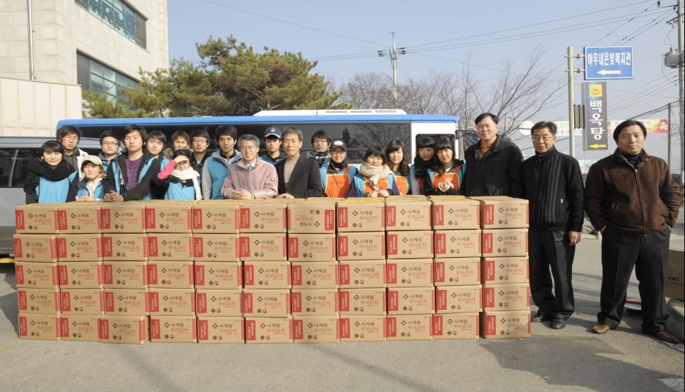 2009. 독거 어르신을 위한 사랑의 김치 담그기