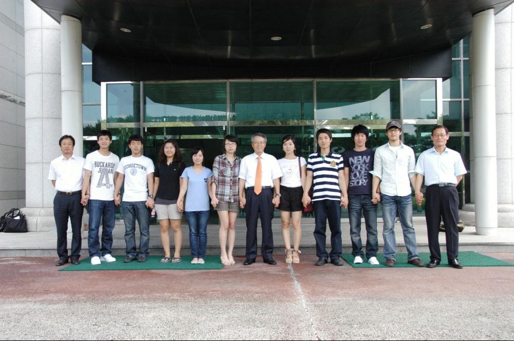 2010. 해외(독일)인턴 취업 학생 총장과의 대화