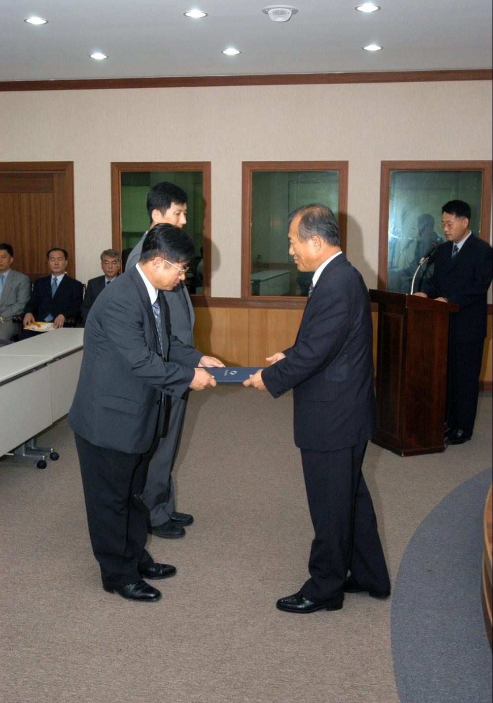6월 보임교수 임명장 수여 및 신규임용
