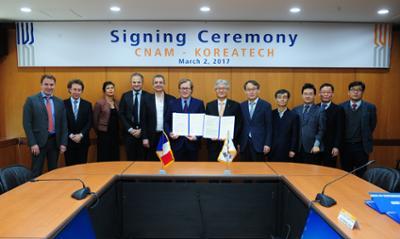 CNAM - KOREATECH Signing Ceremone(코리아텍 - 프랑스 크남대학교 MOU 체결